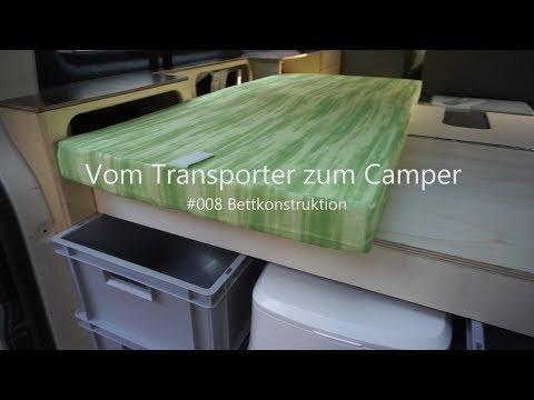 VW T5 vom Transporter zum Vanlife Camper Umbau Innenausbau Bettkonstruktion #009