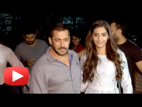 Salman Khan Sonam Kapoor Return From Delhi | Prem Ratan Dhan Payo Promotions