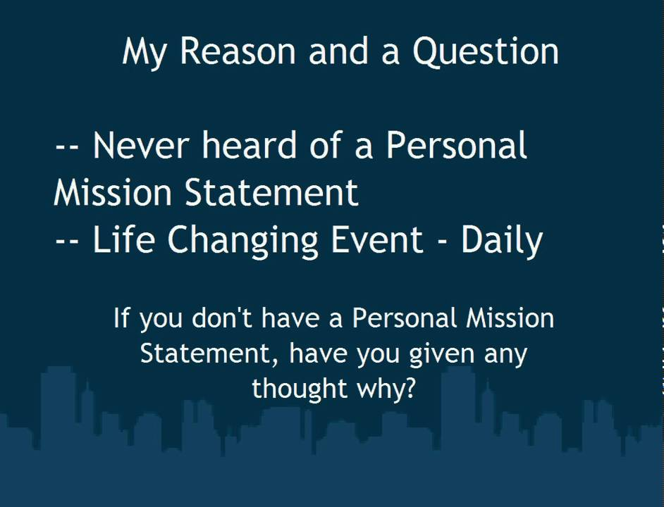 developing a personal purpose statement