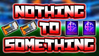 TRADING FROM NOTHING TO MYSTERY DECAL!! ( Rocket League Nothing to Something )