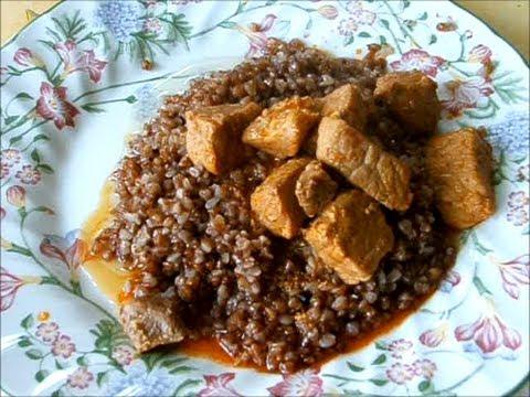 Гречневая каша с подливкой / Sarrasin et saut de porc