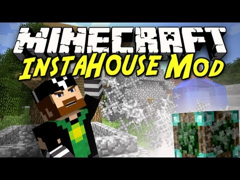 Minecraft Mod Showcase: Insta-House! [INSTANT MOB TRAPS, HOUSES AND MORE!]