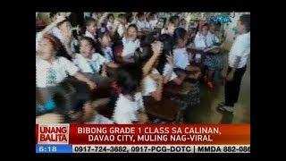 UB: Bibong grade 1 class sa Calinan, Davao city, muling nag-viral