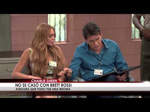 Charlie Sheen no se casó con Brett Rossi