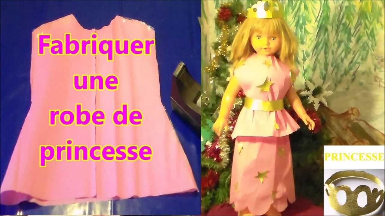 fabriquer robe de princesse pour petite fille patron facile robe papier cr pon youtube. Black Bedroom Furniture Sets. Home Design Ideas