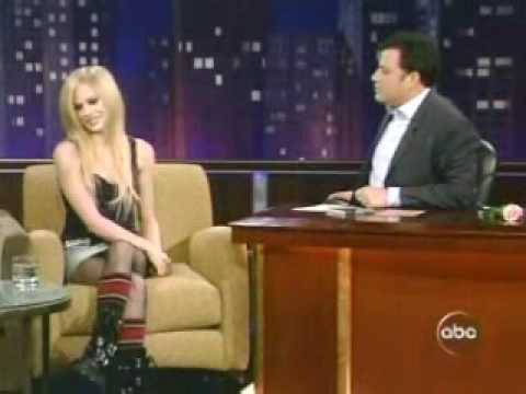 Avril Lavigne - Interview Jimmy Kimel 2005