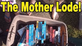 Live Flea Market/Yard Sales Video Game Hunting! Ep. 43 - The Mother Lode! - Pickups!