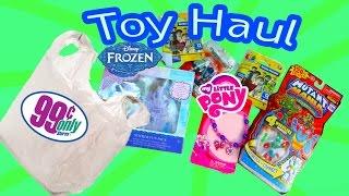 Disney Frozen Queen Elsa 99 Cents Store $1 Dollar BLIND BAGS Toy Haul Doll My Little Pony Video