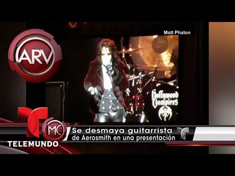 VIDEO: GUITARRISTA DE AEROSMITH SE DESPLOMA EN CONCIERTO