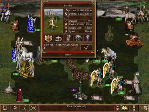 Heroes of Might & Magic III - In The Wake of Gods: Abusing an opponent with a LOT more skill points