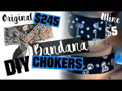DIY - BANDANA CHOKERS