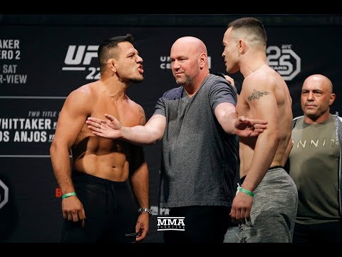 UFC 225 Weigh-Ins: Rafael dos Anjos vs. Colby Covington Weigh-In Staredown - MMA Fighting