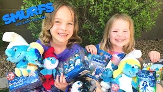 Smurfs Lost Village Toy Haul Hunt - NEW Toys from 2017 Movie w/ Addy & Maya