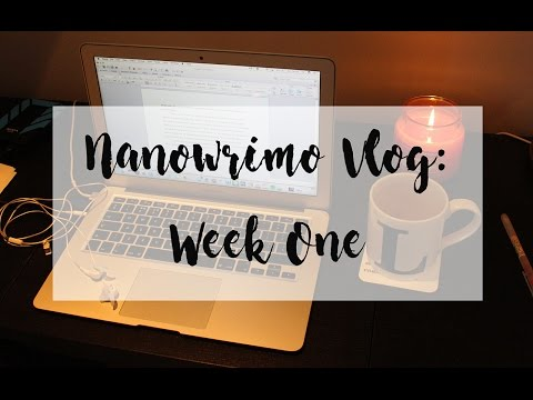 VLOG: NANOWRIMO WEEK 1 | The Book Belle