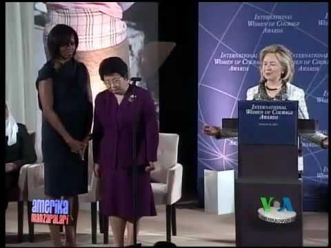 Roza Otunbayeva va AQSh mukofoti/Kyrgyz Pres. Roza Otunbayeva gets US Award