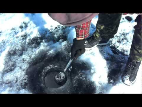 SLAVE LAKE, ALBERTA..ICE FISHING,FEB 20,2012..