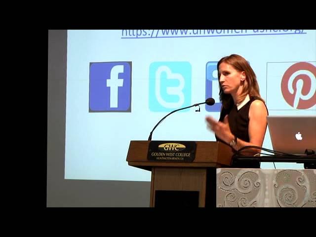 Maggie Forster Schmitz CeCe Sloan  - 2013 Golden West College Peace Conference