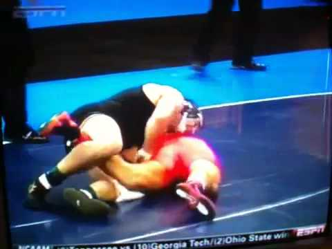 NCAA Divison 1 wrestling 2010 Finals 149 Brent metcalf Iowa sta Video