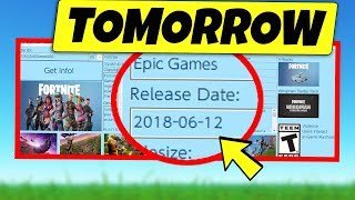 NEW Fortnite RELEASE TOMORROW - CONFIRMED!