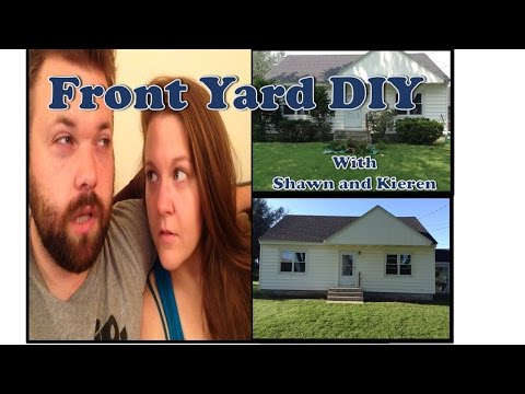 DIY #2-FRONT YARD RENOVATION!!! (Shrub Removal, Power-washing, Flower-Planting!!!)