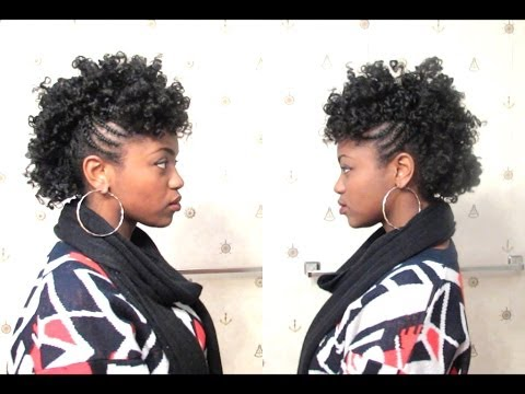 Curly Mohawk on 4C Natural Hair