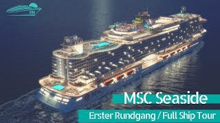 MSC Seaside: Rundgang & Highlights (Renderings) / Full Ship Tour - First Pictures