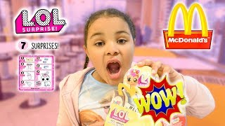LOL Surprise Pets Series 3 Happy Meal Toy at McDonald's! Is It Gold Ball? Skit