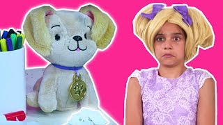 Dog Ate My Homework! 🐶 Esme Gets In Trouble at School - Princesses In Real Life | Kiddyzuzaa