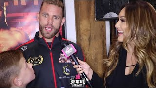 "BILLY JOE SAUNDERS W/ HIS SONS ""I'M SICK OF CHASING FIGHTS! WHOEVER WANTS IT CAN HAVE IT!"""