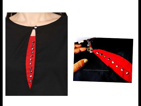 Latest Simple Boat Neck with Potli Buttons -Step by Step in Hindi with English Subtitles