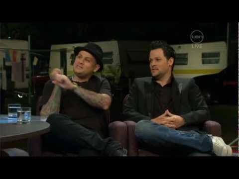 Good Charlotte's Benji and Joel Madden interview on ROVE live from Brisbane (2007)