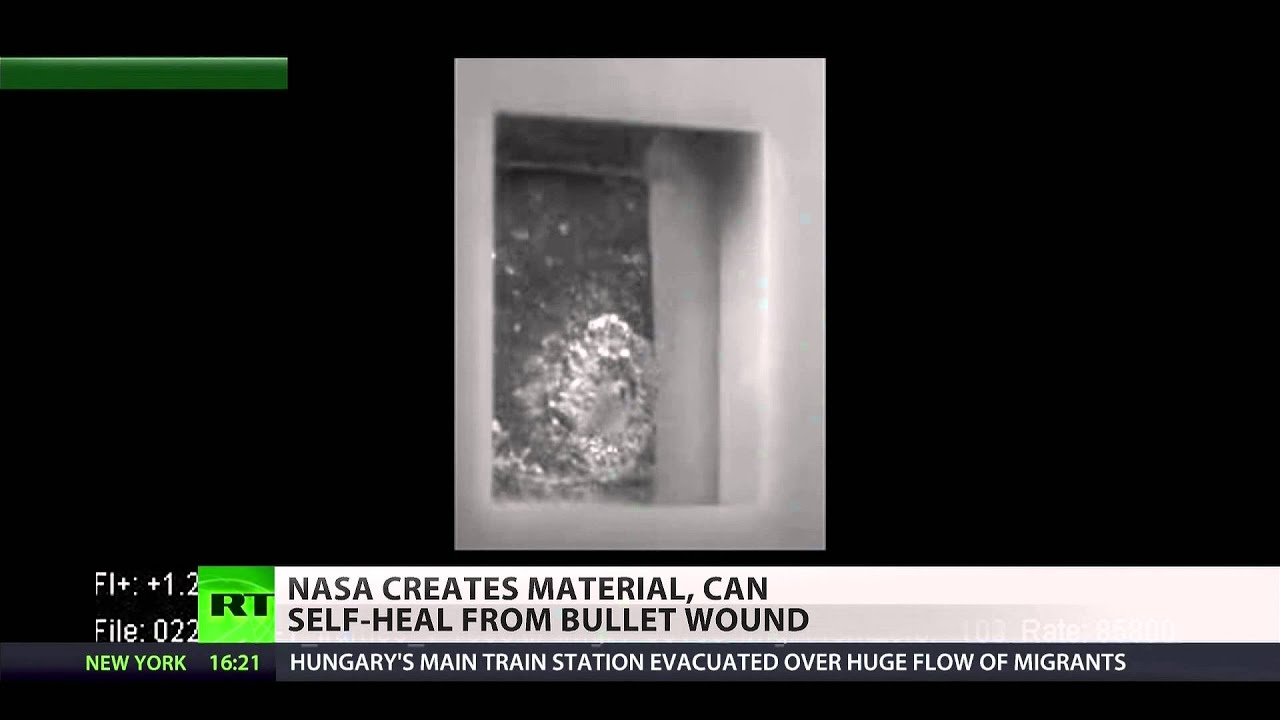 NASA creates 'self-healing' material that repairs itself