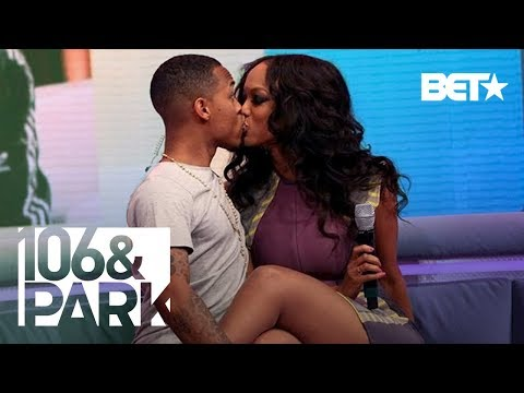 Tyra-Banks---Bow-Wow-Unexpectedly-Kiss-LIVE-On-106---Park