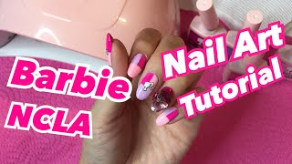 BARBIE NAIL ART with NCLA GEL POLISH ♡ GEL NAILS AT HOME