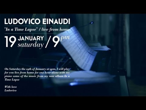Ludovico Einaudi: In a Time Lapse, live from home