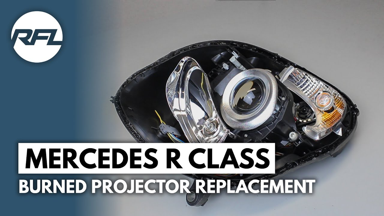 Mercedes R Class Burned Hella Bi Xenon Projector Evox R
