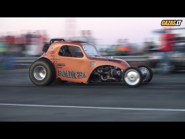 Lithuanian Drag Racing Championship 2014 in Palanga 2014 ( with Altered Fiat Topolino On-board)