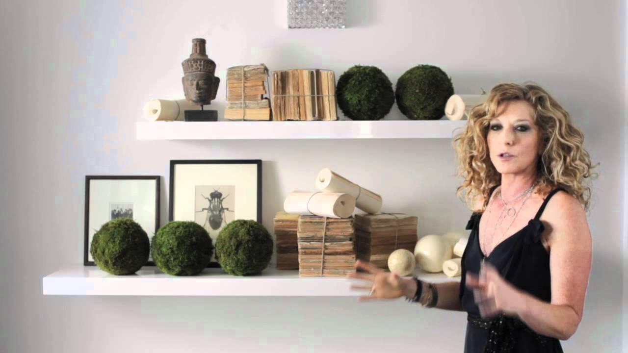 Kelly Hoppen : Simple Organic Shelves Design - YouTube