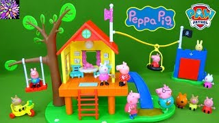 Peppa Pig Treehouse and Fort Play Set Toys George Suzy Sheep Paw Patrol Skye Puzzle Surprise Mashems