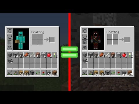 Minecraft but our inventories are linked