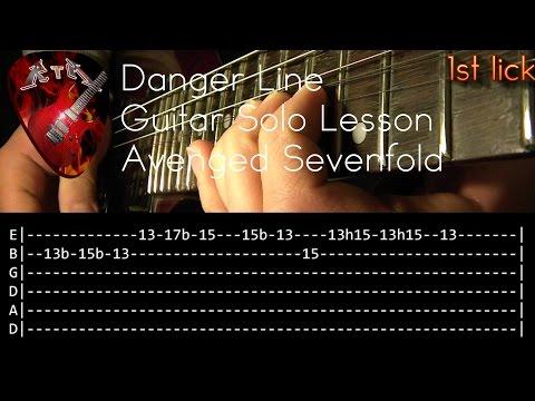 Download  Danger Line Guitar Solo Lesson - Avenged Sevenfold with tabs Gratis, download lagu terbaru