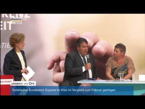 SPD-Wertekongress: Sigmar Gabriel im Gespräch mit Susanne Neumann am 09.05.2016