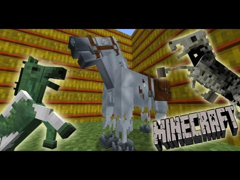 MineCraft 1.6 SnapShot 13w21a Ghost Horse. Skeleton Horse Armor. News & Community Speaks!