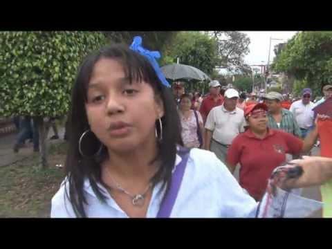 120419; Marea humana movilizada contra la política de hambre del gobierno hondureño