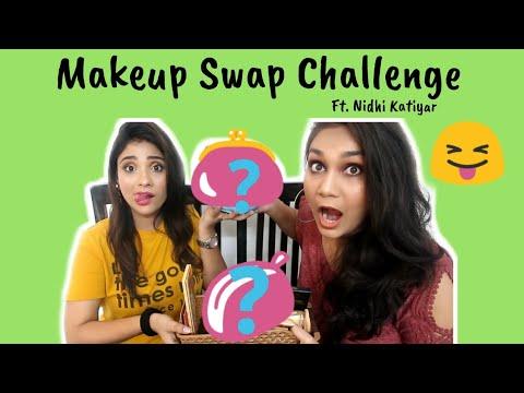 Makeup Swap Challenge ft. Nidhi Katiyar | Shystyles