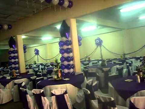 Decoracion con globos para xv a os en san mateo for Decoracion de pared para quinceanera