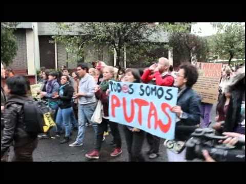 marcha de las putas. quito ecuador. 10 de marzo 2012