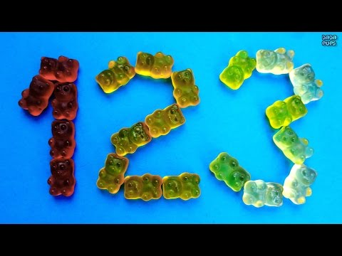 Learn To Count with candy HARIBO Numbers 1-10. HARIBO BEARS |Video for kids children babies