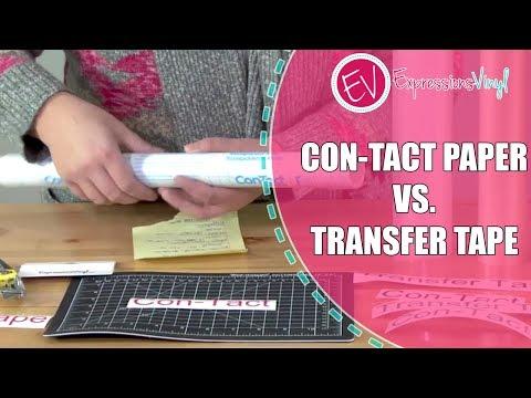 Transfer Tape vs. Con-Tact Paper