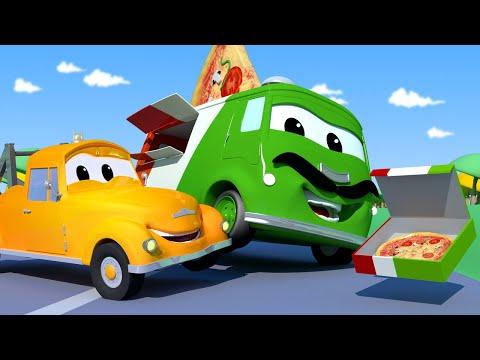 Эвакуатор Том - КОЛЕСО ударило Карло ПИЦЦАЙОЛО! - Автомобильный Город  🚗 детский мультфильм